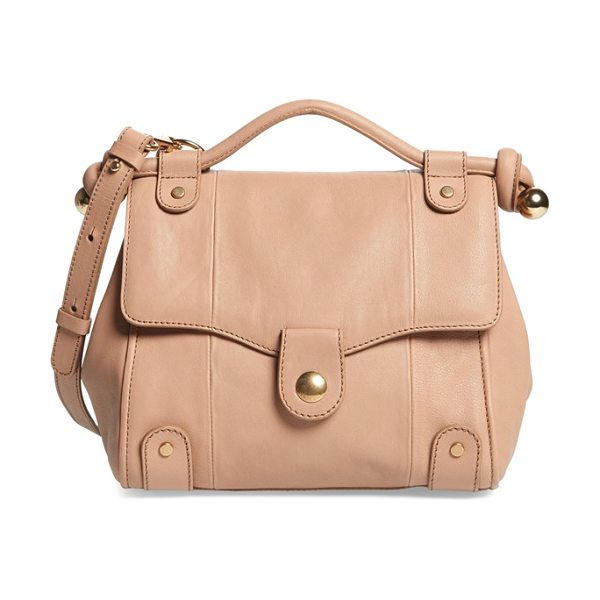 See By Chloe Dixie leather crossbody bag in desert - Supple topstitched leather accented by gleaming goldtone...