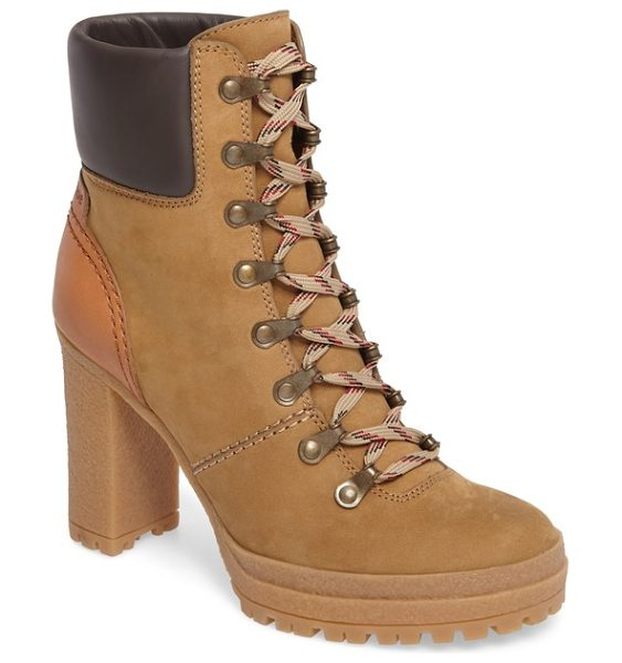 SEE BY CHLOE eileen platform boot - A street-chic take on the vintage hiking boot is crafted...