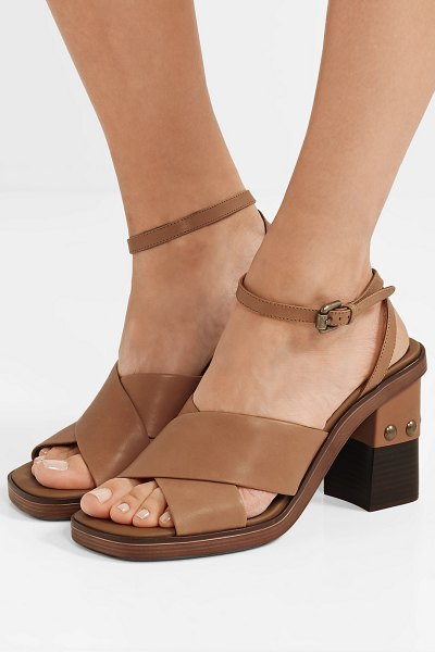 See By Chloe embellished leather sandals in tan