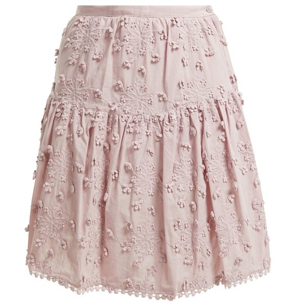 See By Chloe embroidered mini skirt in light pink - See By Chloé - For a spirited interpretation of bohemian...