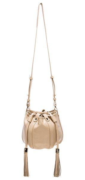SEE BY CHLOE Evening bag - Cowskin leather with twill fabric lining and gold-tone...