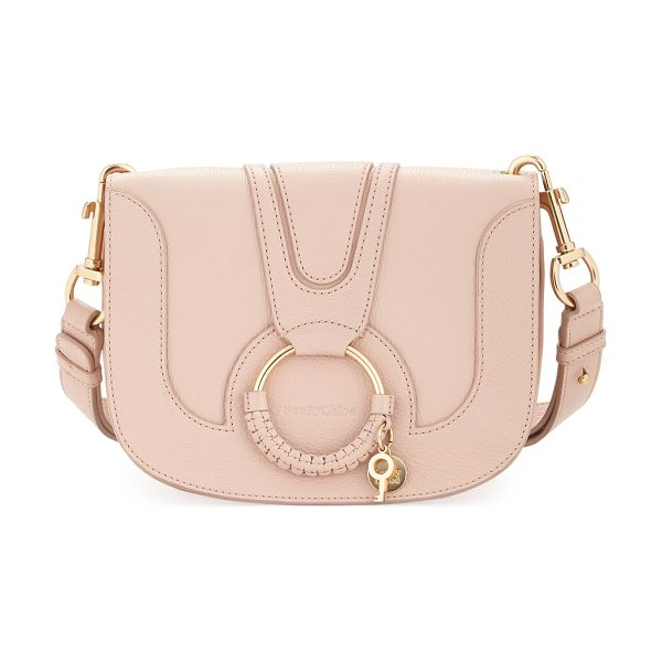 See By Chloe Hana Medium Ring Saddle Bag in powder