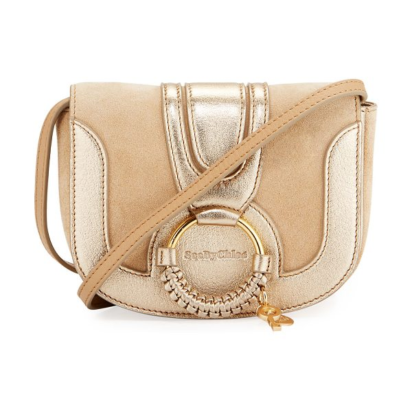 See By Chloe Hana Mini Leather Shoulder Bag in beige