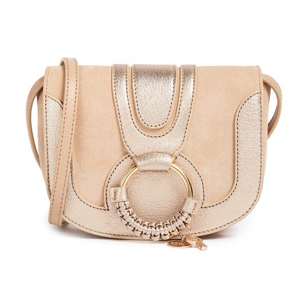 SEE BY CHLOE hana mini saddle bag - A petite See by Chloé saddle bag in metallic leather and...