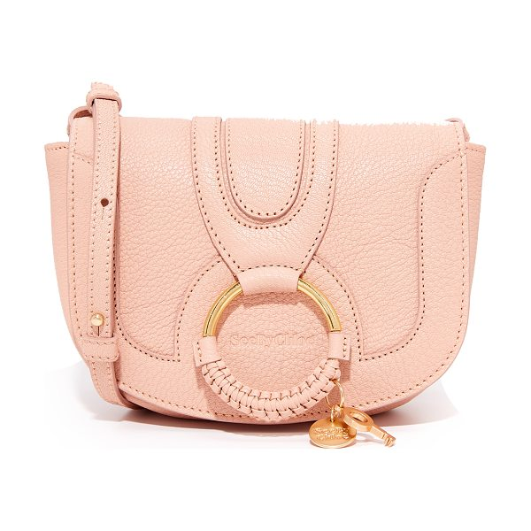 SEE BY CHLOE hana small saddle bag - A See by Chloé saddle bag in pebbled leather. A matte...