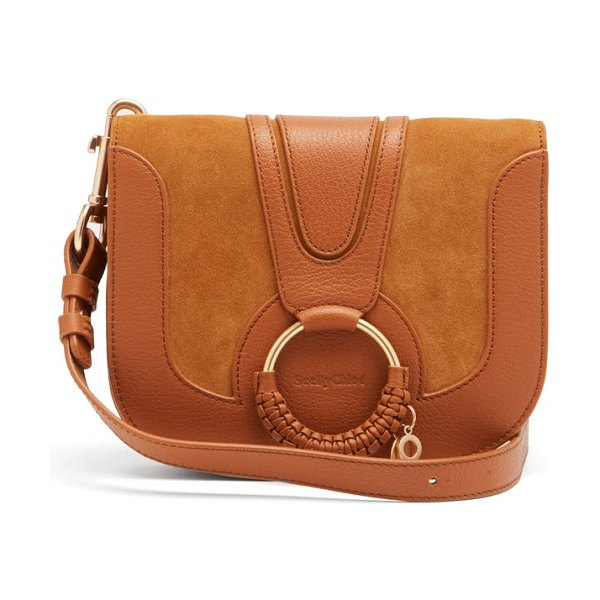 See By Chloe hana small suede and leather cross-body bag in tan