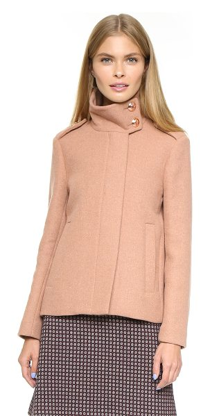 See By Chloe High collar jacket in brick rose - A boxy See by Chloé jacket with a hint of military...