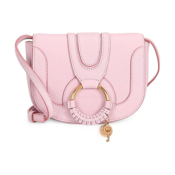 See By Chloe mini hana leather saddle bag in smooth pink