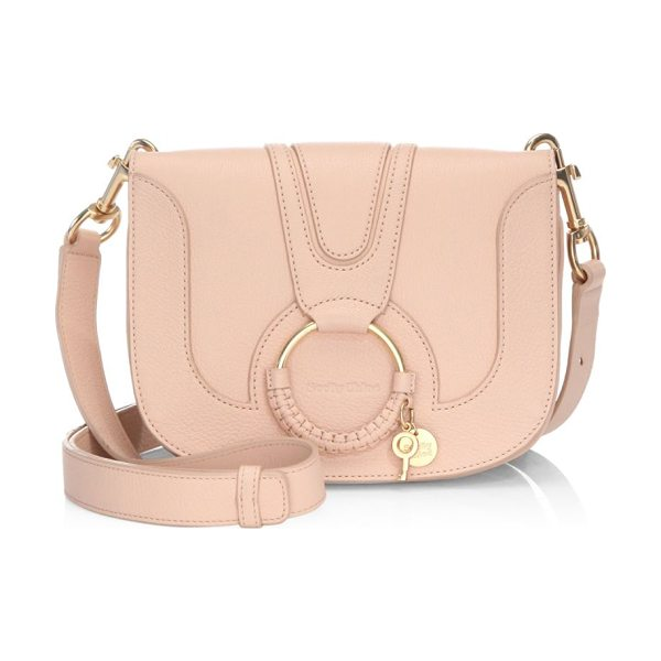 See By Chloe hoop leather shoulder bag in nude