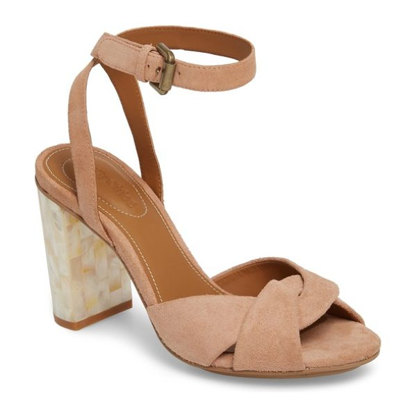 SEE BY CHLOE isida block heel sandal - An ankle-strap sandal of twisted suede serves double duty...
