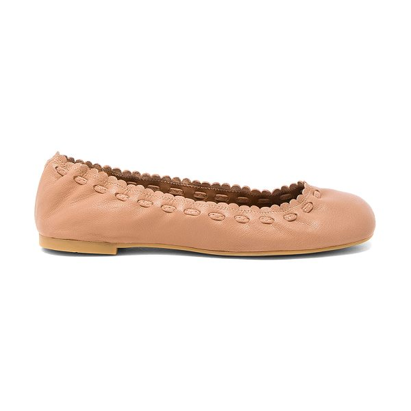 See By Chloe Jane Flat in tan - Leather upper with rubber sole. Elasticized slip-on...