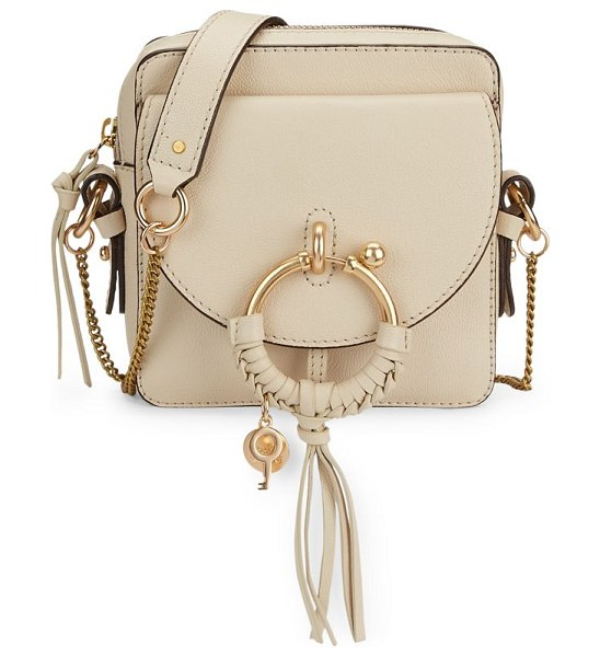 See By Chloe joan leather camera bag in cement beige