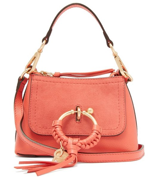 See By Chloe joan mini leather cross body bag in pink - See By Chloé - See By Chloé's mini Joan bag is crafted...