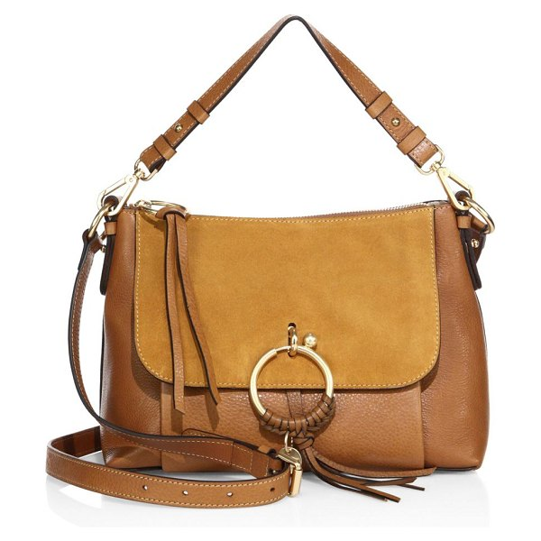 See By Chloe joan small leather & suede shoulder bag in caramel