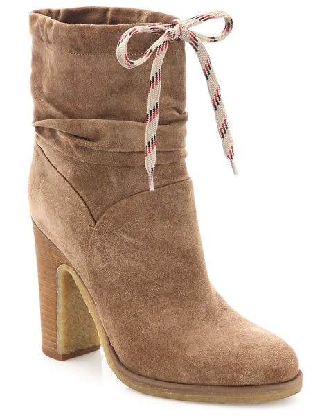 See By Chloe jona suede booties in dark beige - Casual chic booties with a functional sporty lace....