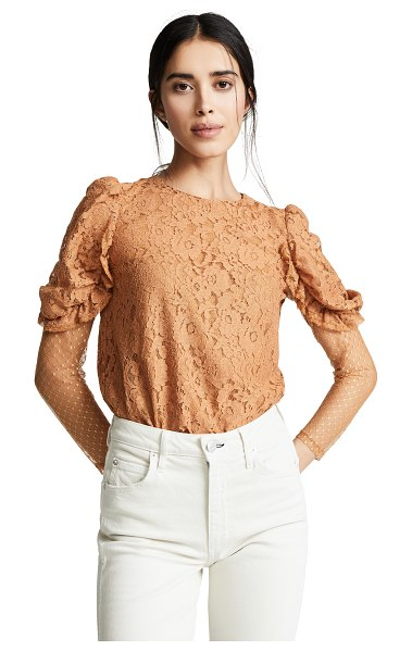 See By Chloe lace blouse in smooth brown