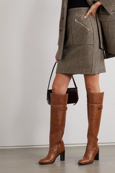 See By Chloe leather over-the-knee boots in tan