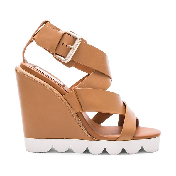 See By Chloe Leather Tiny Wedges in neutrals - Leather upper with rubber sole.  Made in China.  Approx...