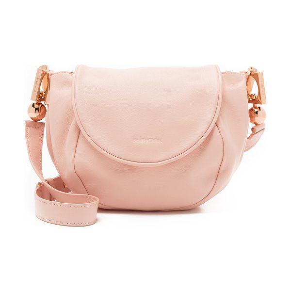 See By Chloe Lena messenger bag in pink beige - A slouchy See by Chloé cross body bag in pebbled...