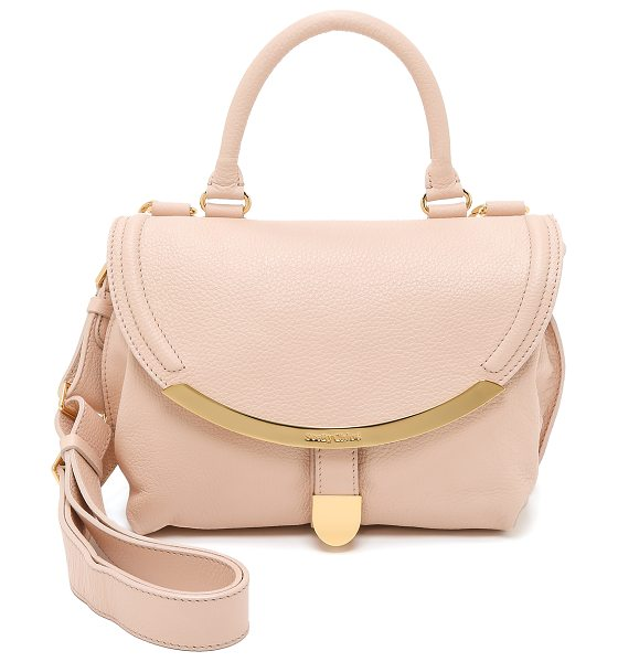 See By Chloe Lizzie small satchel in nude - A scaled down See by Chloe shoulder bag in soft leather....