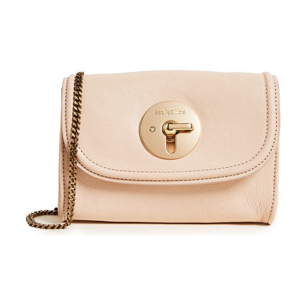SEE BY CHLOE lois shoulder bag in nude - A small See by Chloé cross-body bag crafted in buttery...