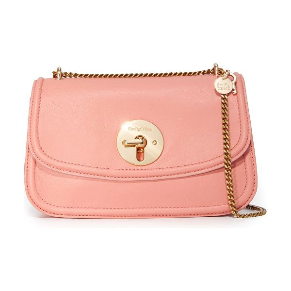 See By Chloe lois shoulder bag in misty pink - A small See by Chloé cross body bag crafted in buttery...