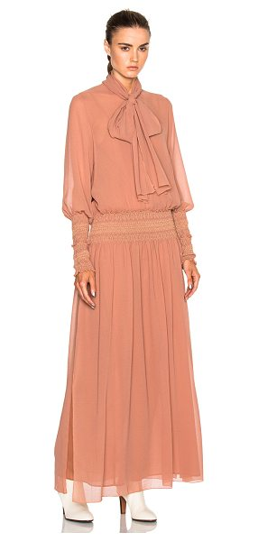 See By Chloe Long Sleeve Maxi Dress in dusty pink - Self: 100% polyLining: 100% cotton. Made in Portugal....