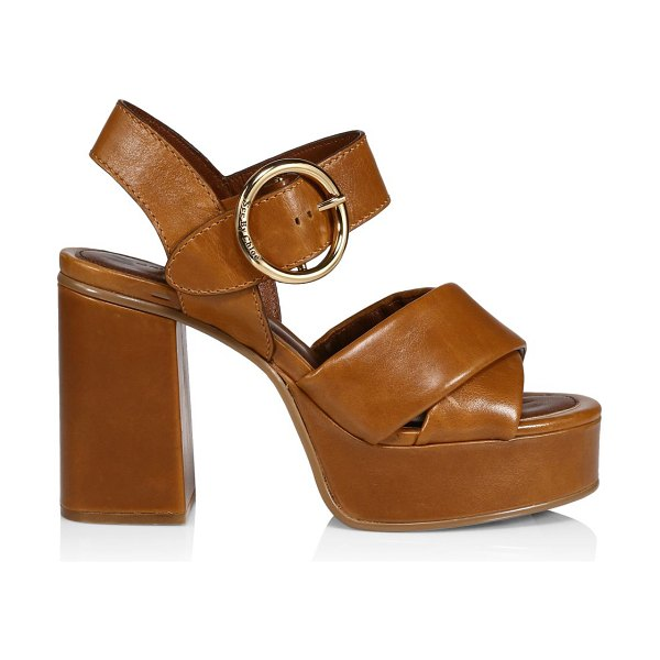 See By Chloe lyna leather platform sandals in tan