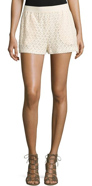 SEE BY CHLOE Mid-Rise Lace Shorts - See by Chloe geometric-lace shorts. Approx....