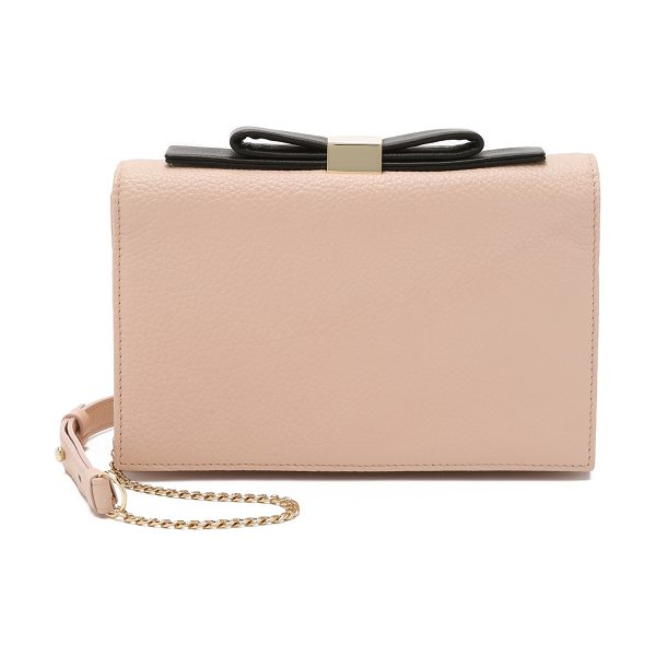See By Chloe Nora small clutch in nude - A wrinkled leather See by Chloé cross body clutch...