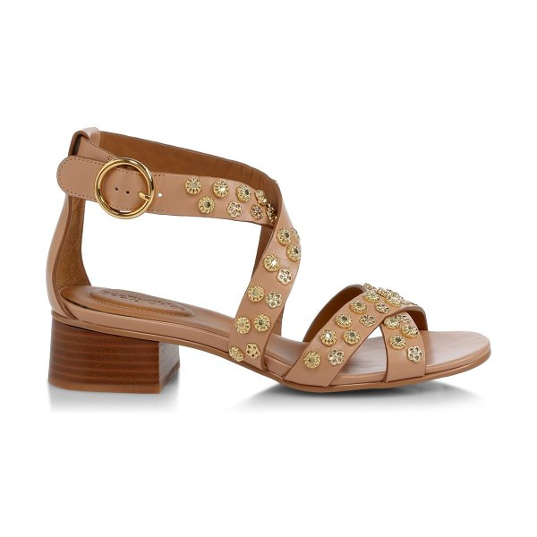 See By Chloe pennie embellished leather sandals in rosellina