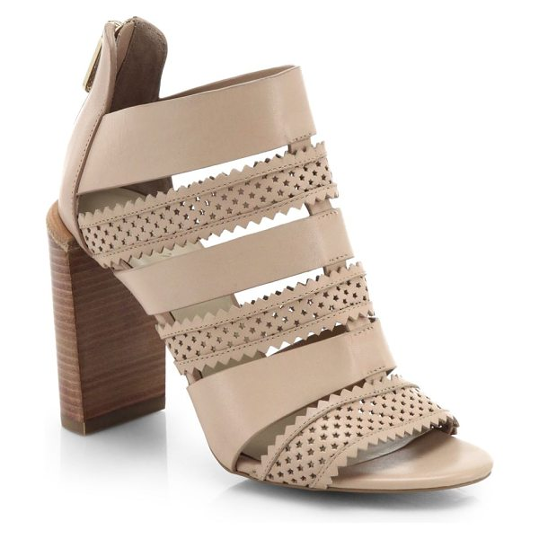 See By Chloe Perforated star leather sandals in nude - Perforated leather in a star motif lends a touch of...