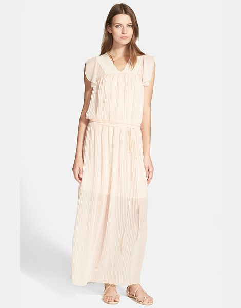 SEE BY CHLOE pleated chiffon maxi dress - Delicately pleated chiffon in a pastel blush hue lends...