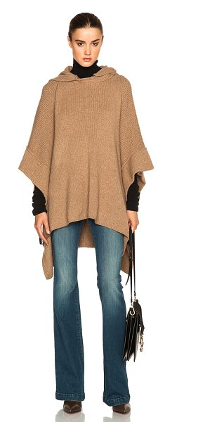 See By Chloe Poncho in neutrals - 75% baby alpaca 25% nylon.  Made in UK.  Knit fabric. ...
