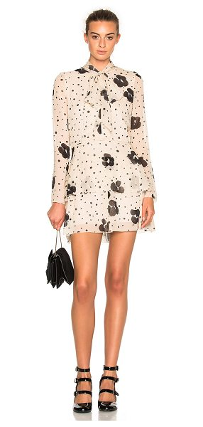 See By Chloe Printed Pussybow Dress in neutrals,floral - Self: 100% silk - Lining: 100% cotton.  Made in...