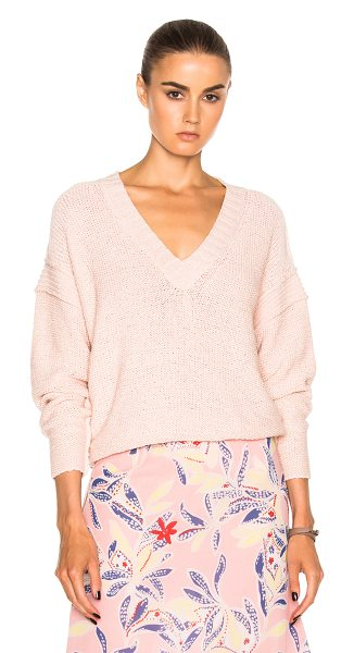 See By Chloe Pullover in silver pink - 67% cotton 33% nylon. Made in China. Dry clean only....
