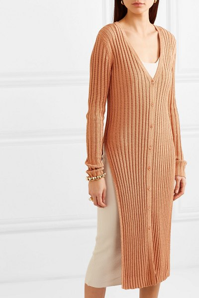See By Chloe ribbed-knit cardigan in beige