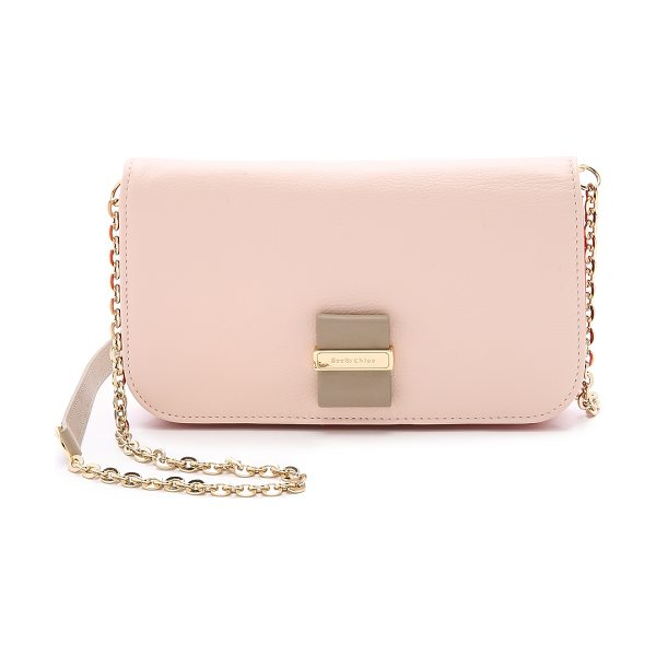 See By Chloe Rosita mini cross body bag in red/ pink beige/sage