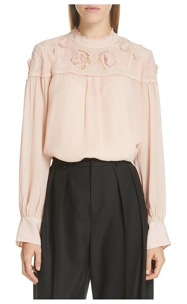 See By Chloe ruffle lace blouse in pink