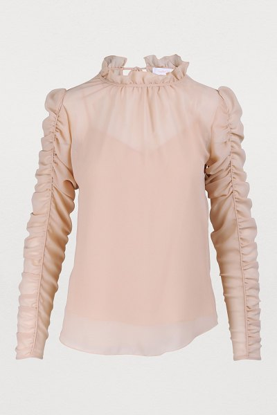 See By Chloe Ruffle sleeve top in smoky pink