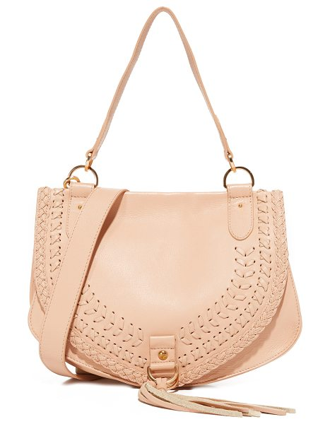 SEE BY CHLOE collins large saddle bag - A See by Chloé saddle bag in pebbled leather, accented...