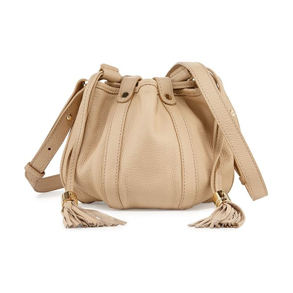 See By Chloe Small leather drawstring bucket bag in sand shell