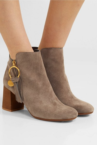 See By Chloe suede ankle boots in taupe