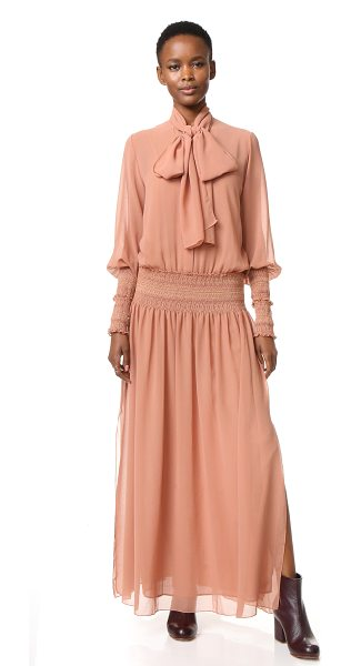See By Chloe See By Chloe Tie Neck Maxi Dress in dusty pink - Long ties drape from the neckline of this romantic See...