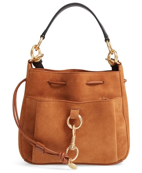 See By Chloe tony leather bucket bag in brown