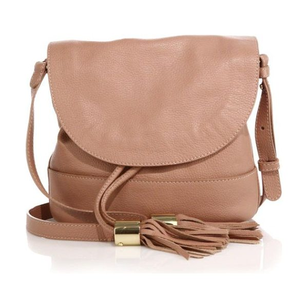 See By Chloe Vicki pebble leather flap bucket bag in cappuccino
