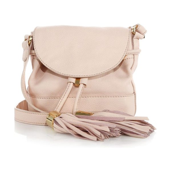 SEE BY CHLOE Vicki pebble leather flap bucket bag - A subtle pebble texture on elegant Italian leather is...