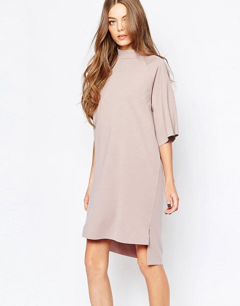 Selected Coda High Neck Dress in pink - Dress by Selected, Smooth knit fabric, High neckline,...