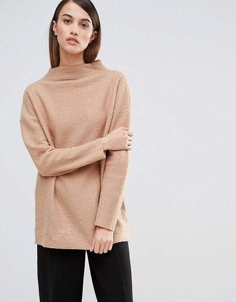 Selected Darla Funnel Neck Knitted Sweater in tan