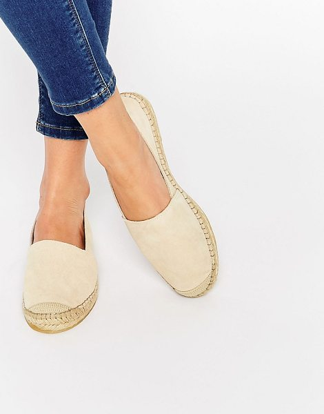 SELECTED Femme Marley Suede Espadrille Shoes - Shoes by Selected, Suede upper, Slip-on style, Round...